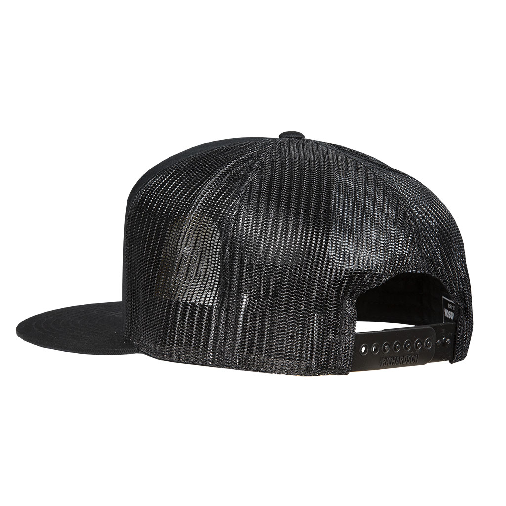 Gunwerks Black Hat with Gray Leather Patch