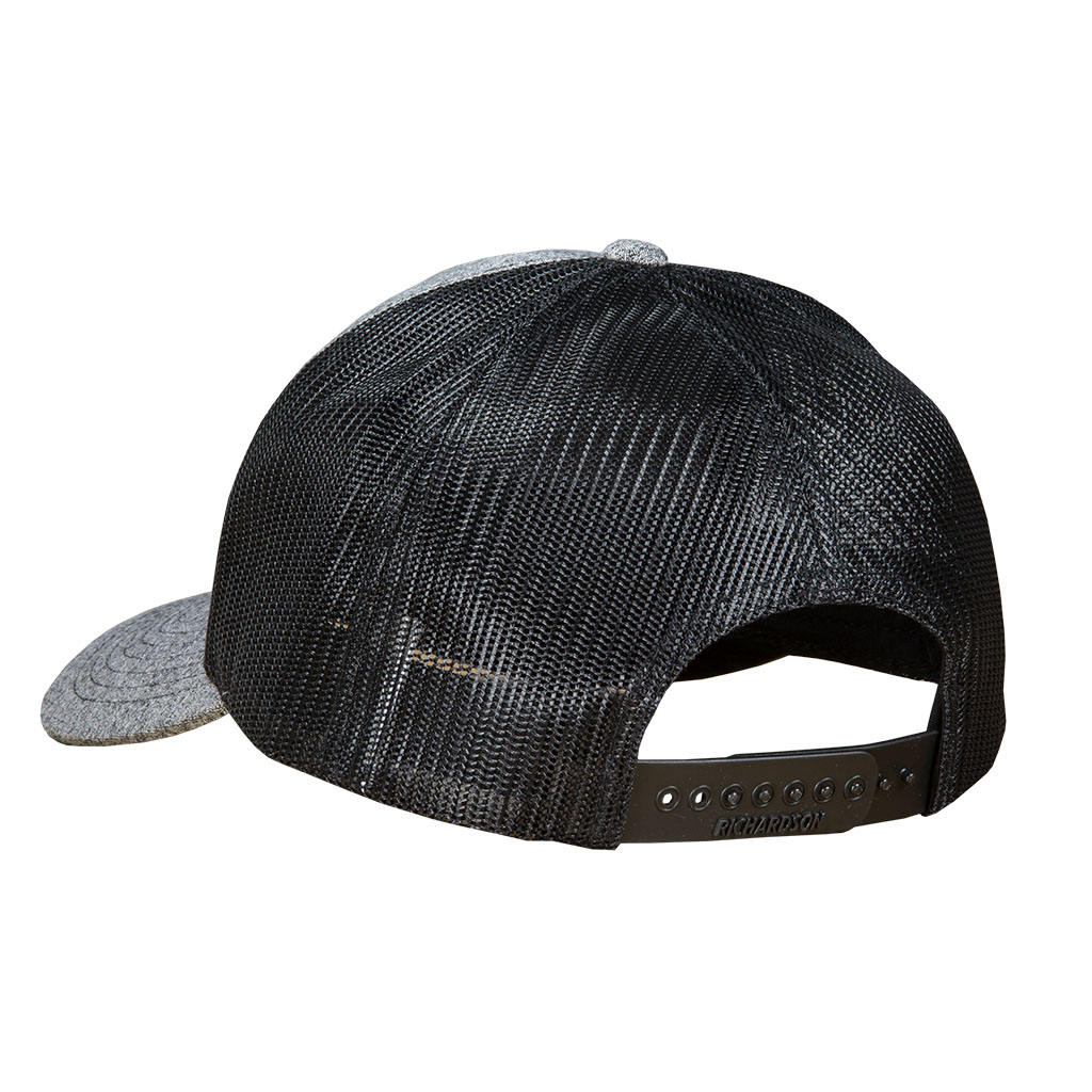 Gunwerks Dark Heather Gray Hat with Leather Patch
