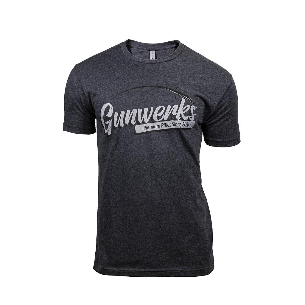 [PD-K1320] Gunwerks Premium Rifles T-Shirt in Charcoal (Small)