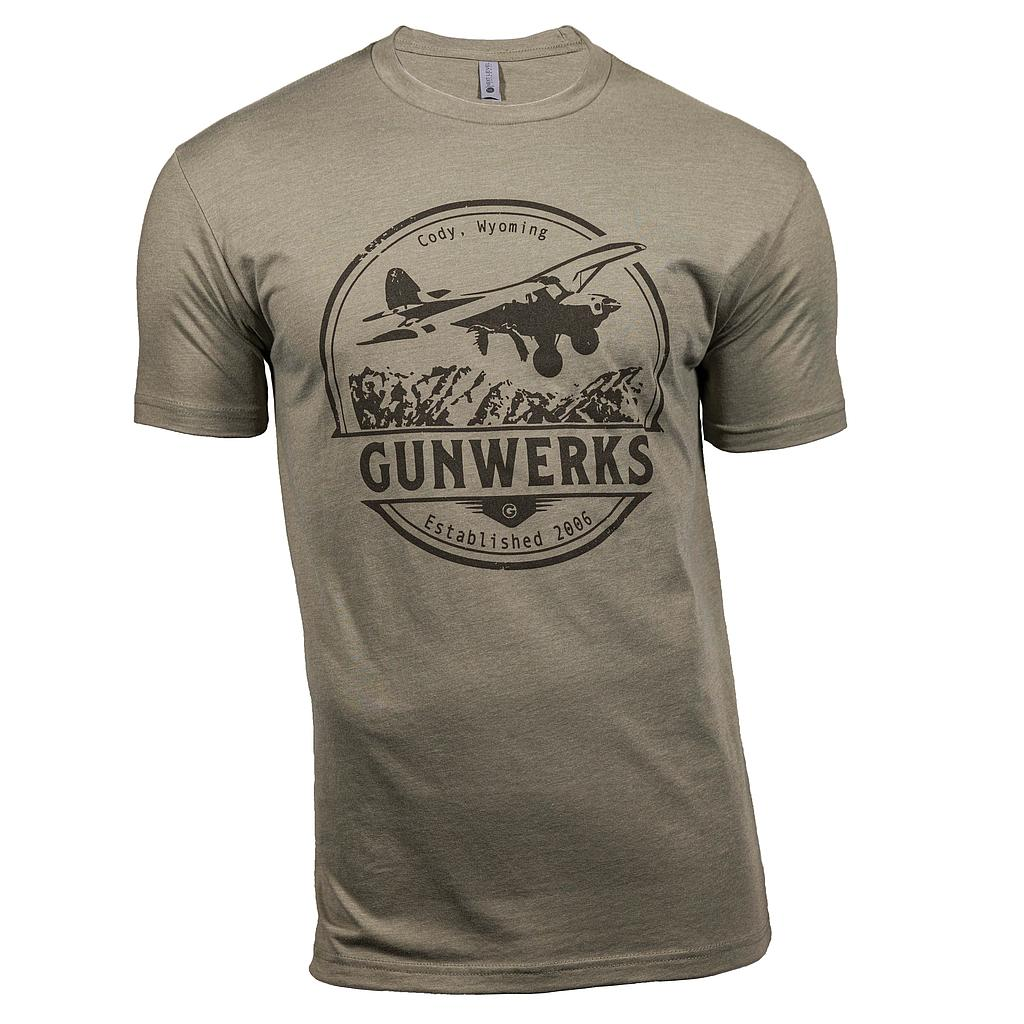 [PD-K1300] Gunwerks Bush Plane T-Shirt in Light Olive (Small)